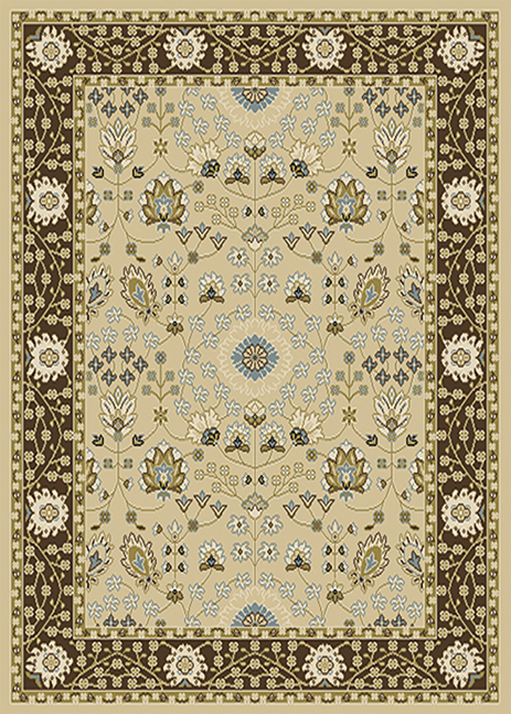 Traditional Oriental Vines Area Rug 8x11 Persian Border