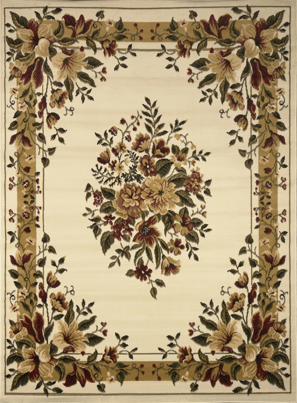 Transitional Floral Area Rug 8x11 Casual Vines Scrolls