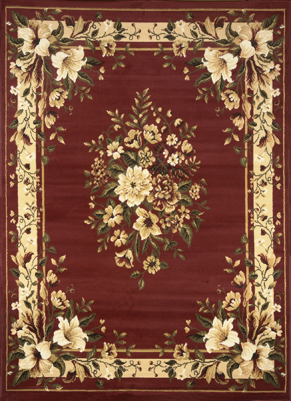 TRANSITIONAL-FLORAL-BORDER-AREA-RUG-5X8-ORIENTAL-CARPET-ACTUAL-5-2-x-7-2