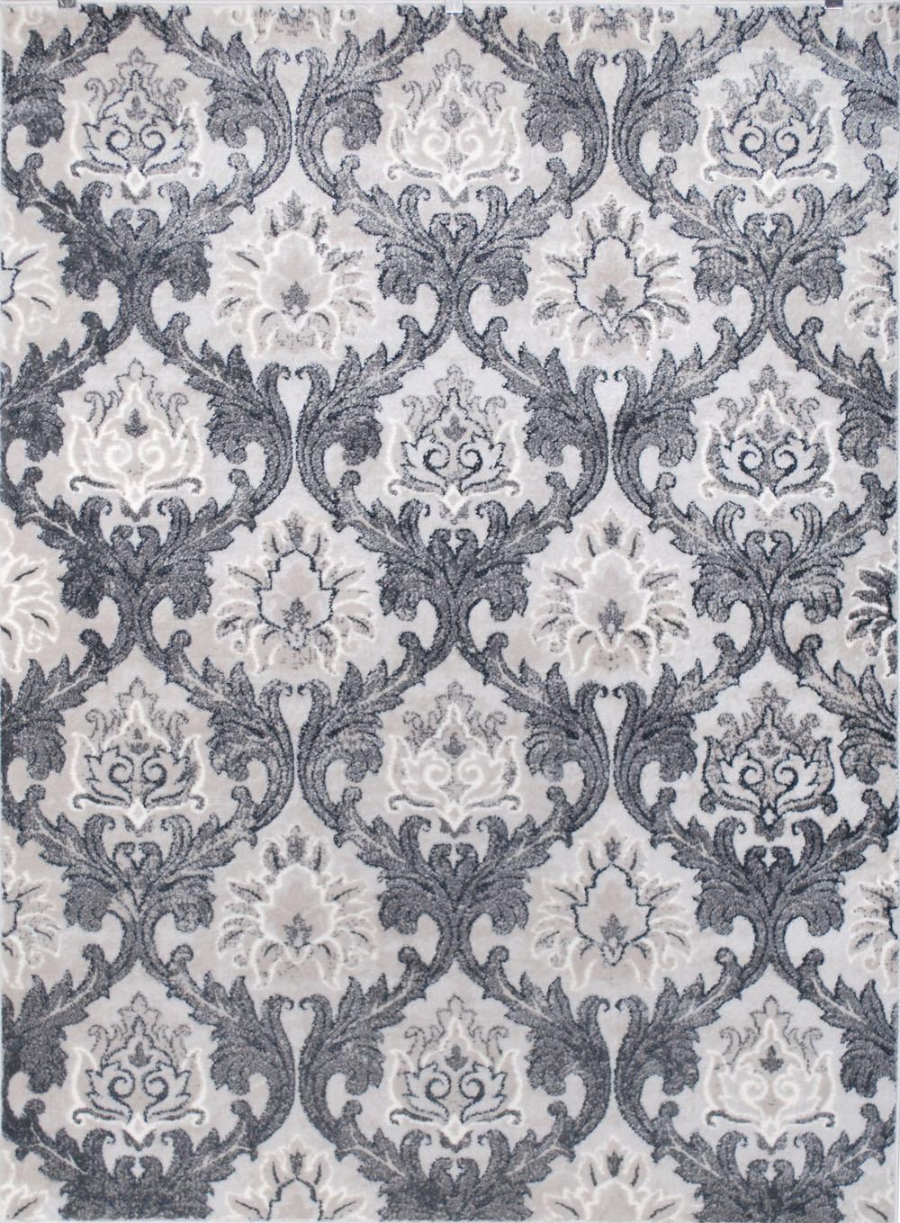 Contemporary Beige Carpet Scrolls Swirls Vines Leaves