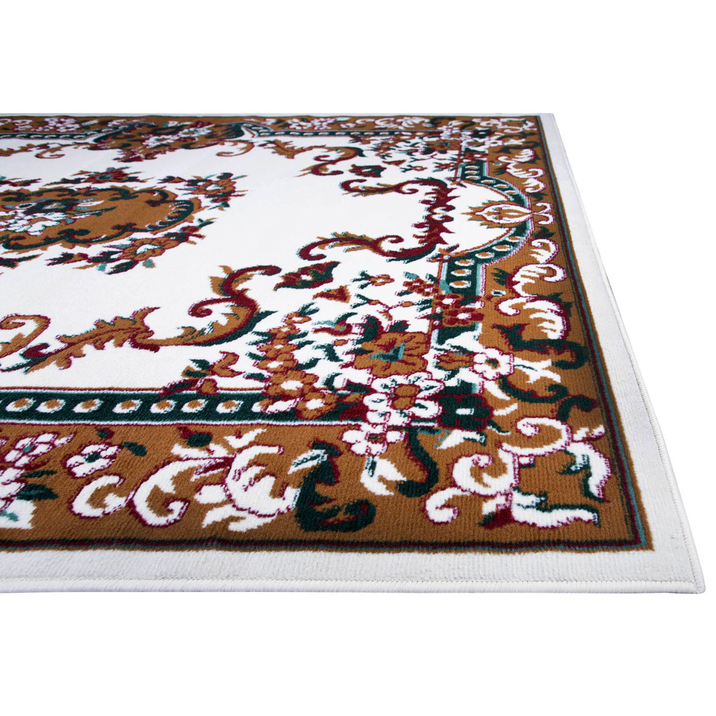 oriental floral border area rug 5x8 scrolls persian carpet actual 5 39 2 x 7 39 4 ebay. Black Bedroom Furniture Sets. Home Design Ideas