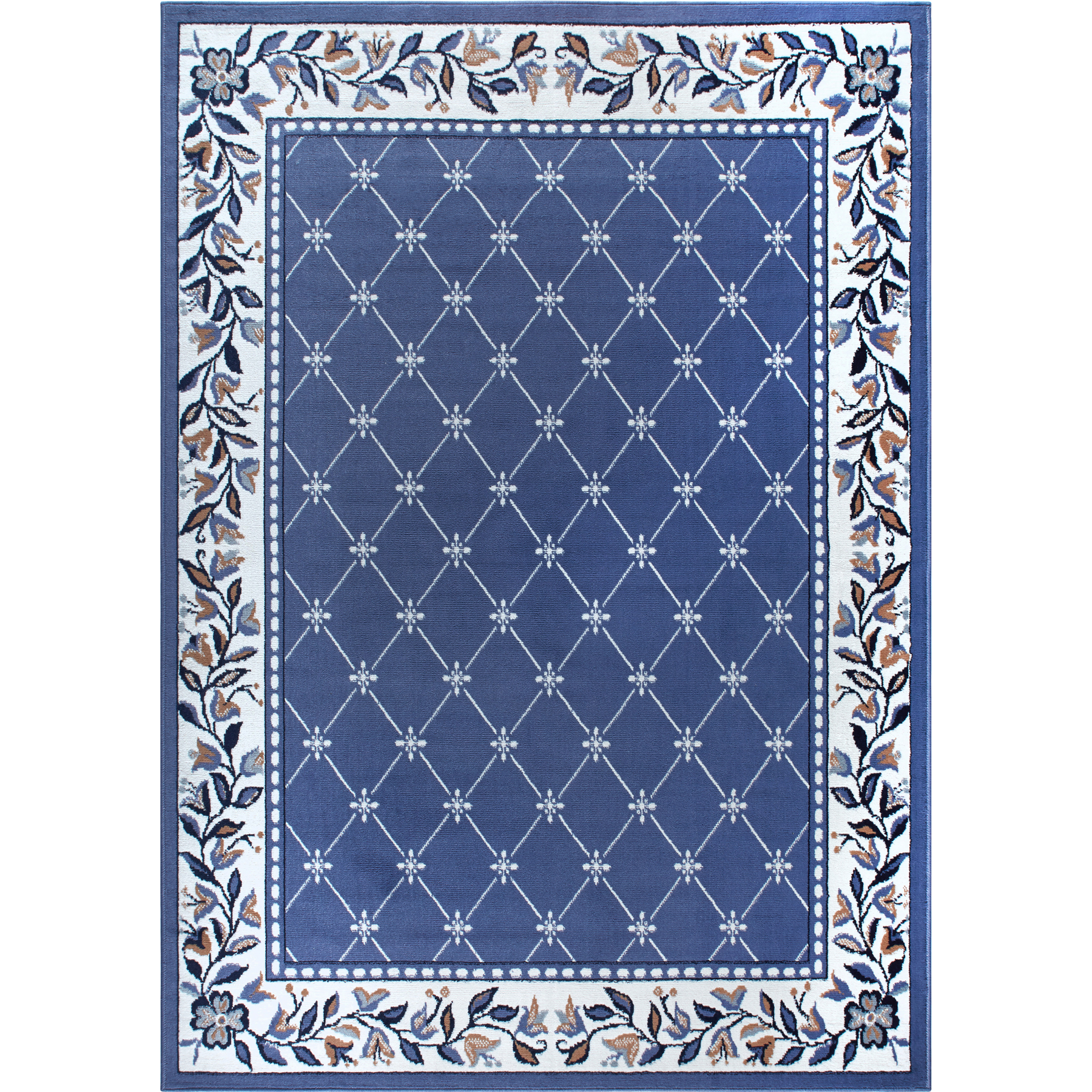 Trellis moroccan tile area rug or floral lattice modern for Area rug sizes