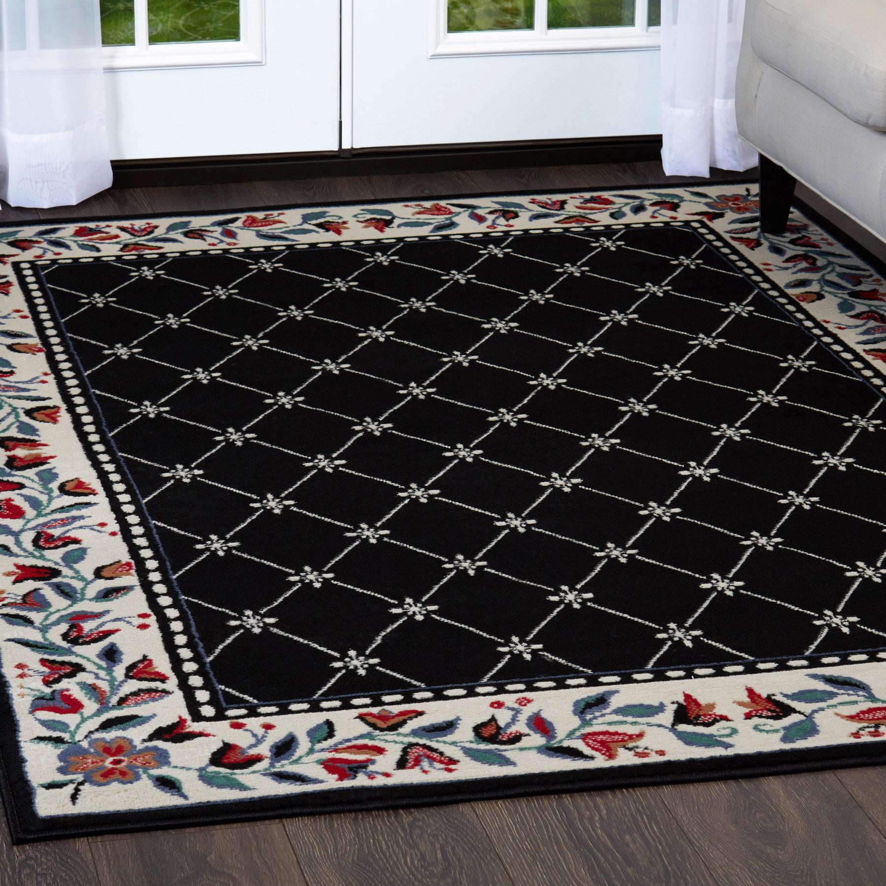 trellis moroccan tile area rug or floral lattice modern. Black Bedroom Furniture Sets. Home Design Ideas