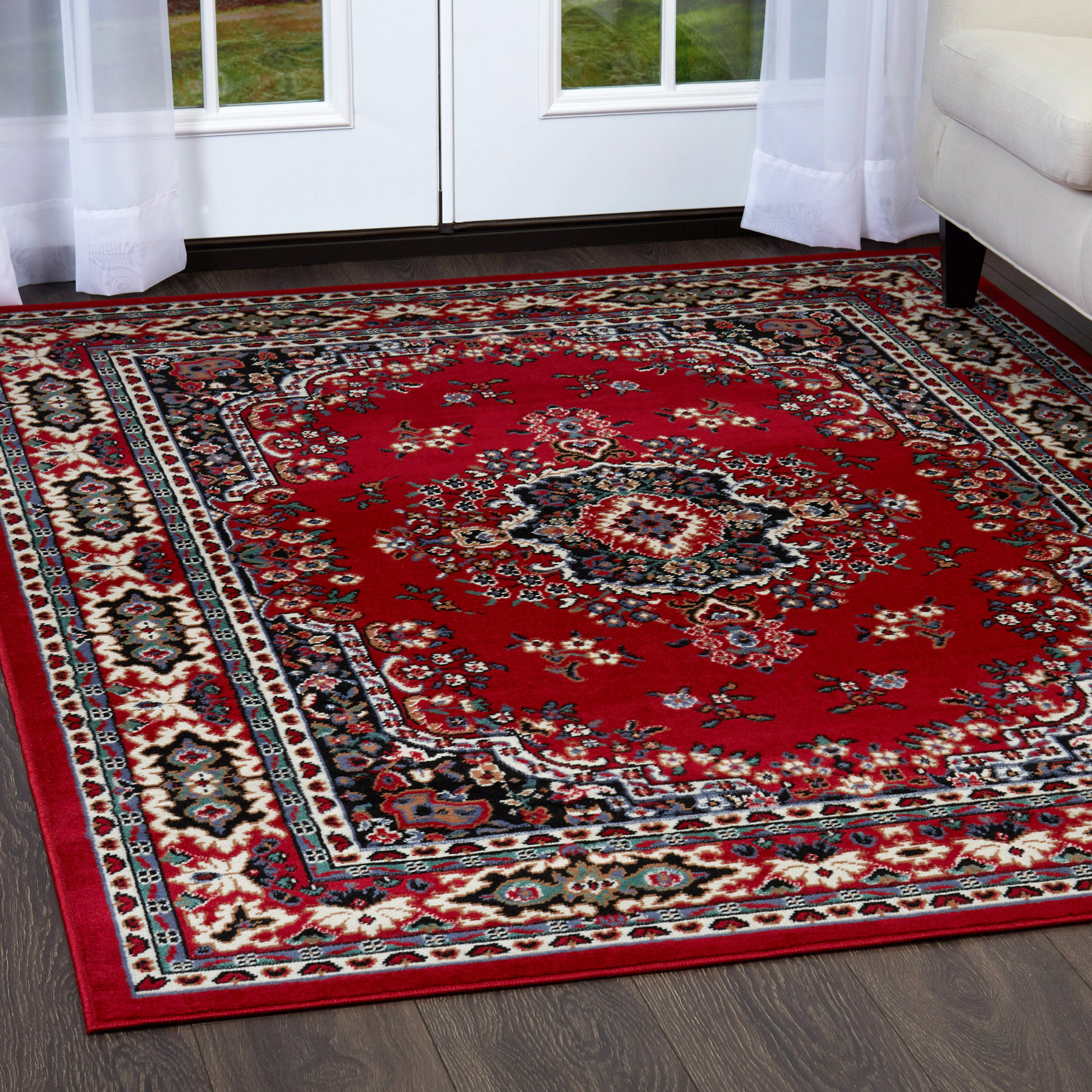 Rug Runner Rug: Traditional Oriental Medallion Area Rug Persian Style