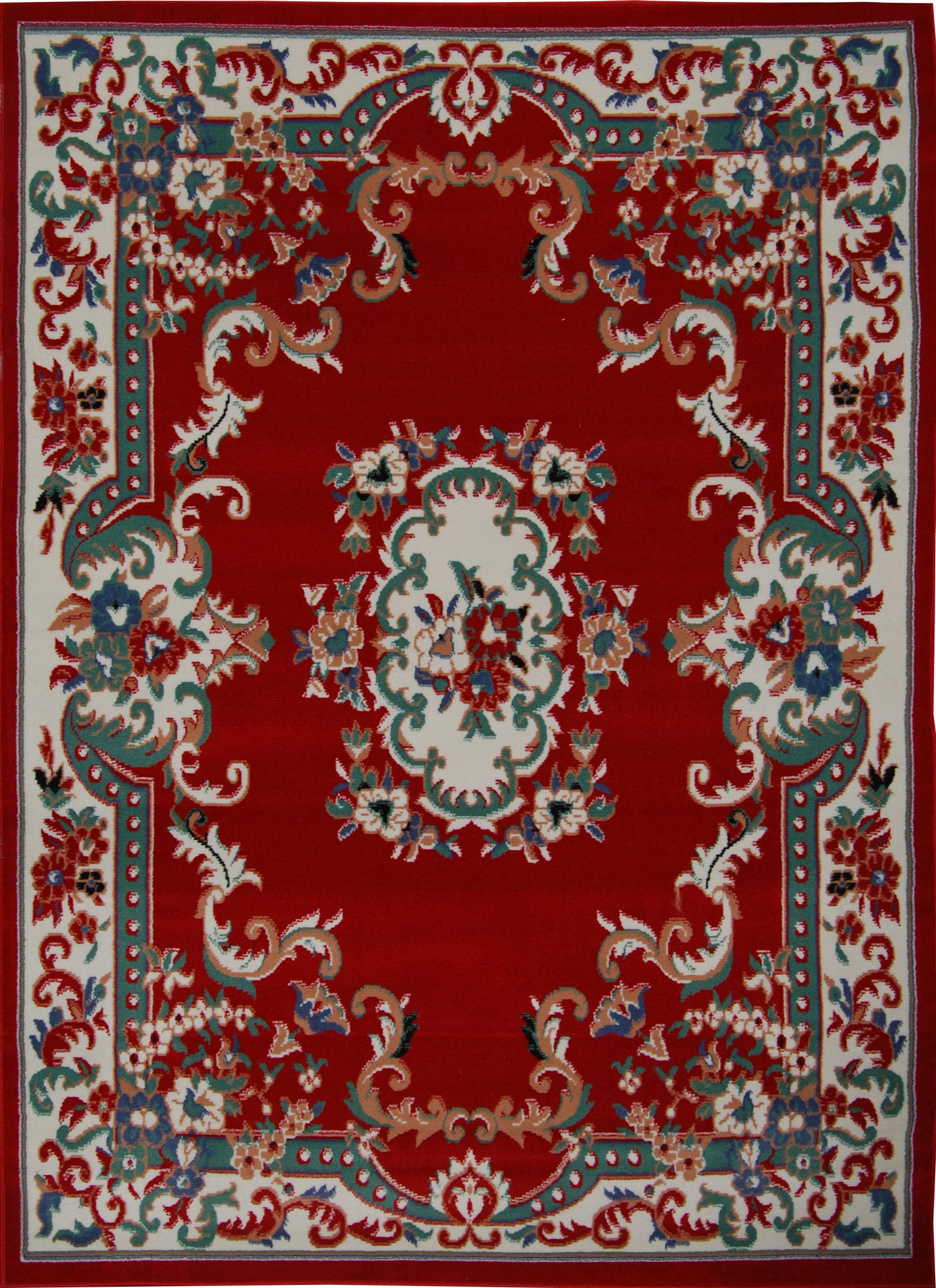 Oriental-Floral-Border-Medallion-Area-Rug-Scrolls-Traditional-Persien-Carpet thumbnail 9