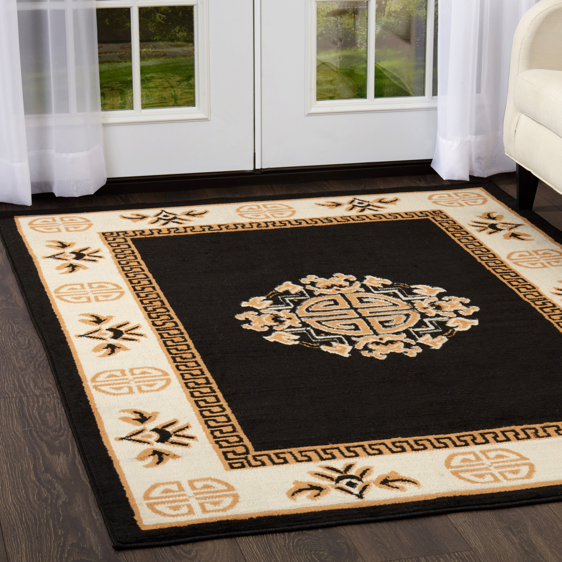Persian Rug House: Oriental Medallion Area Rug Traditional 5x7 Persian Carpet
