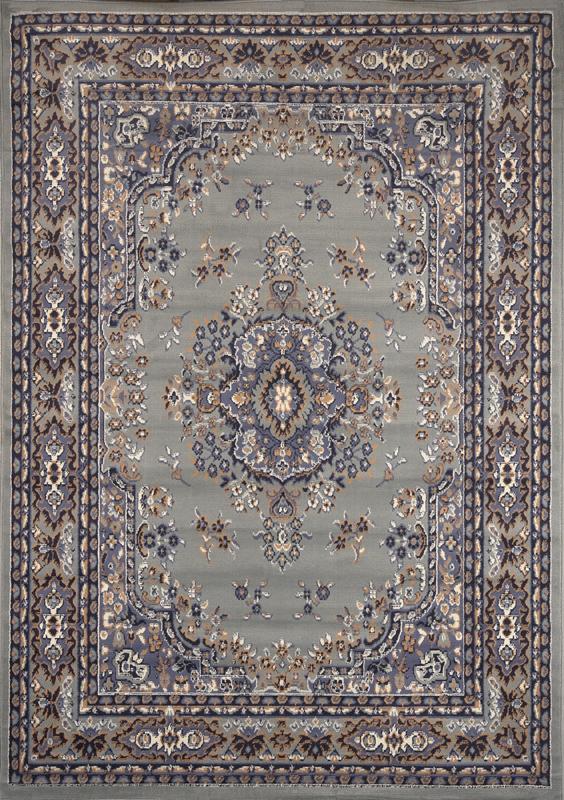 Traditional Persian Silver Area Rug Border Oriental Multi