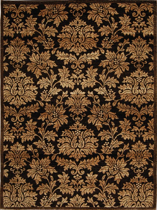 DAMASK BROWN GOLD AREA RUG 5X8 PERSIAN CARPET 1000 ...