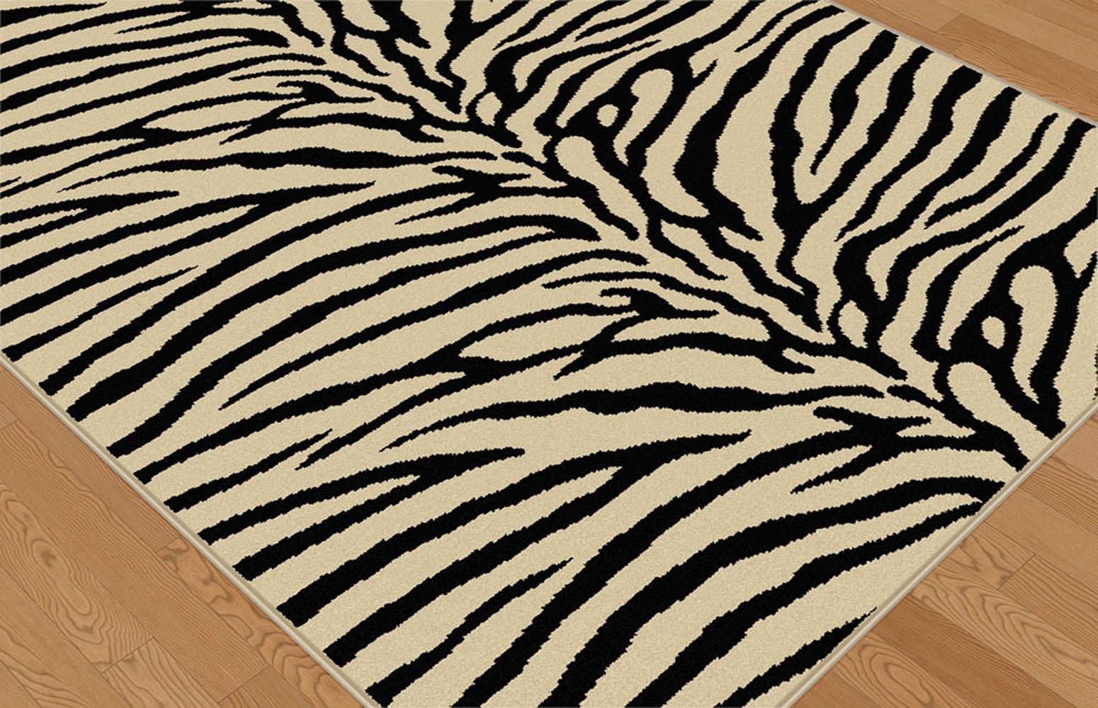 ivories exotic skin animal prints area rug stripes animal. Black Bedroom Furniture Sets. Home Design Ideas