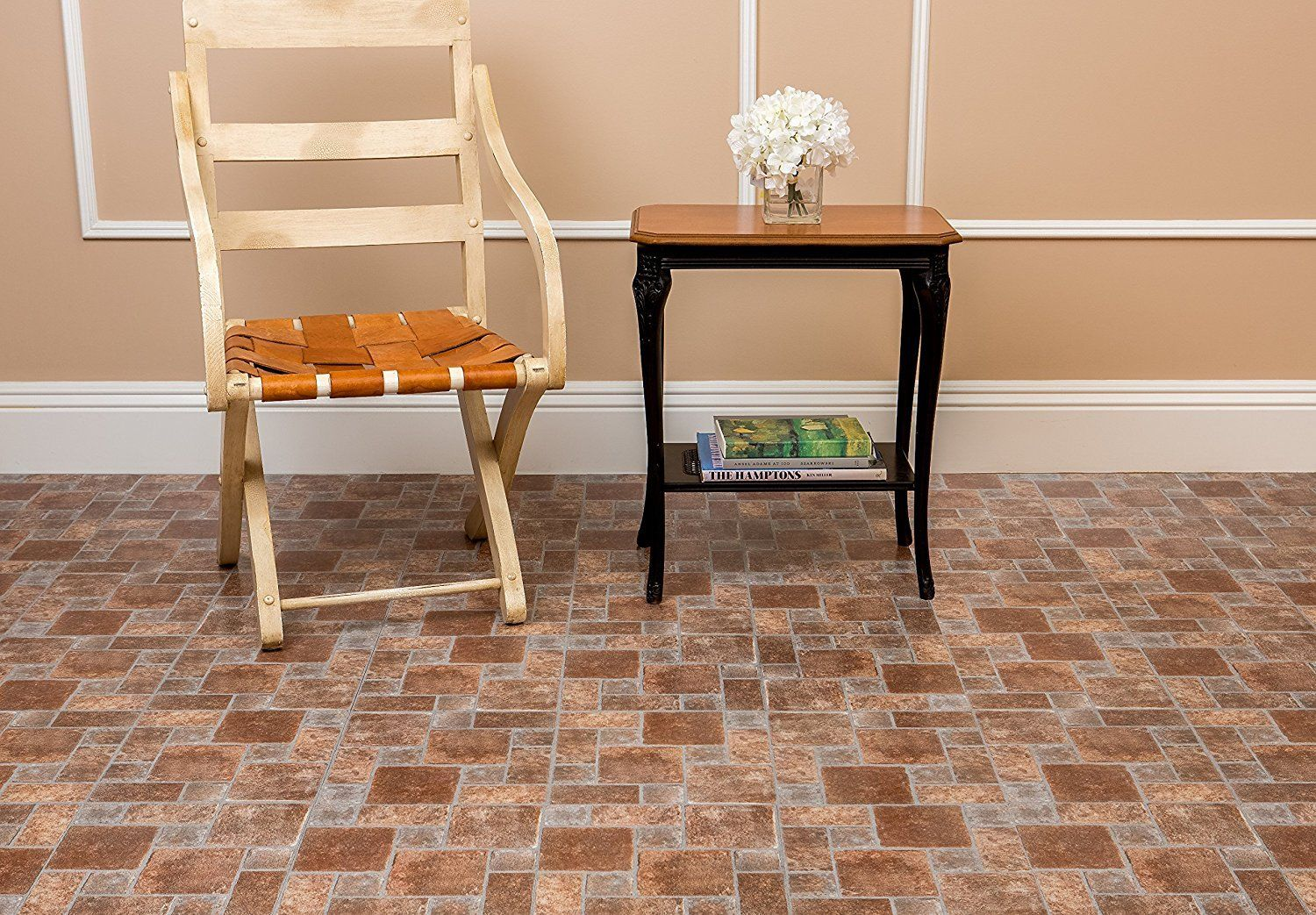 Vinyl flooring tiles self stick