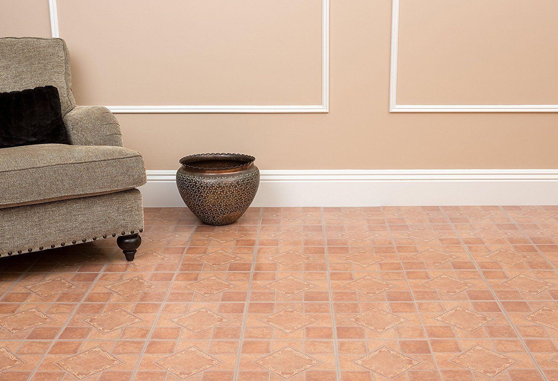 Stick on vinyl floor tiles