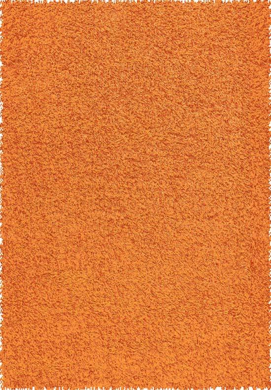 Modern Orange Shag Area Rug 5x7 Shaggy Retro Chic Carpet