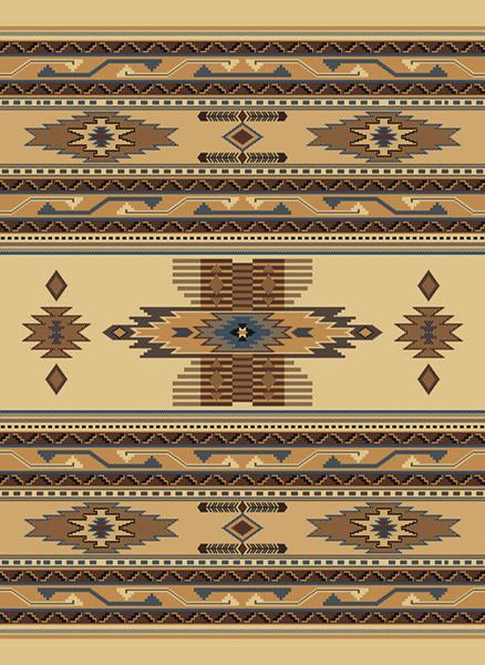 southwestern berber beige native american carpet rustic lodge striped area rug ebay. Black Bedroom Furniture Sets. Home Design Ideas