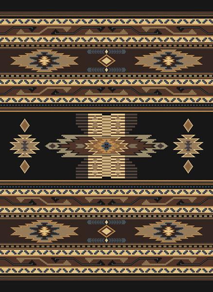 southwestern black multi native american carpet rustic lodge striped area rug ebay. Black Bedroom Furniture Sets. Home Design Ideas