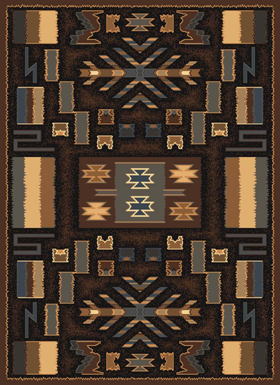brown multi southwest carpet modern lodge native american contemporary area rug. Black Bedroom Furniture Sets. Home Design Ideas