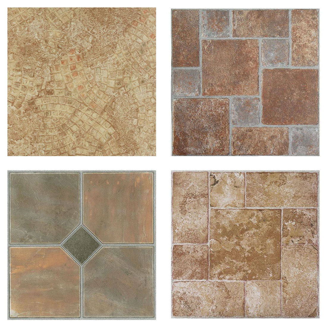 mosaic slate brick stone self stick adhesive vinyl floor tile 40 pcs 12 x12 ebay. Black Bedroom Furniture Sets. Home Design Ideas