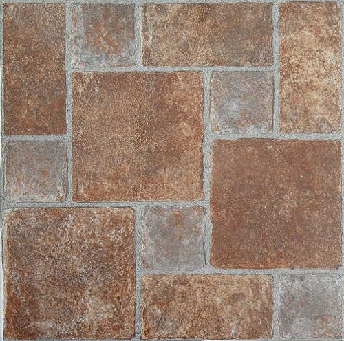 Brick pavers stone self stick adhesive vinyl floor tiles for Stick on vinyl flooring