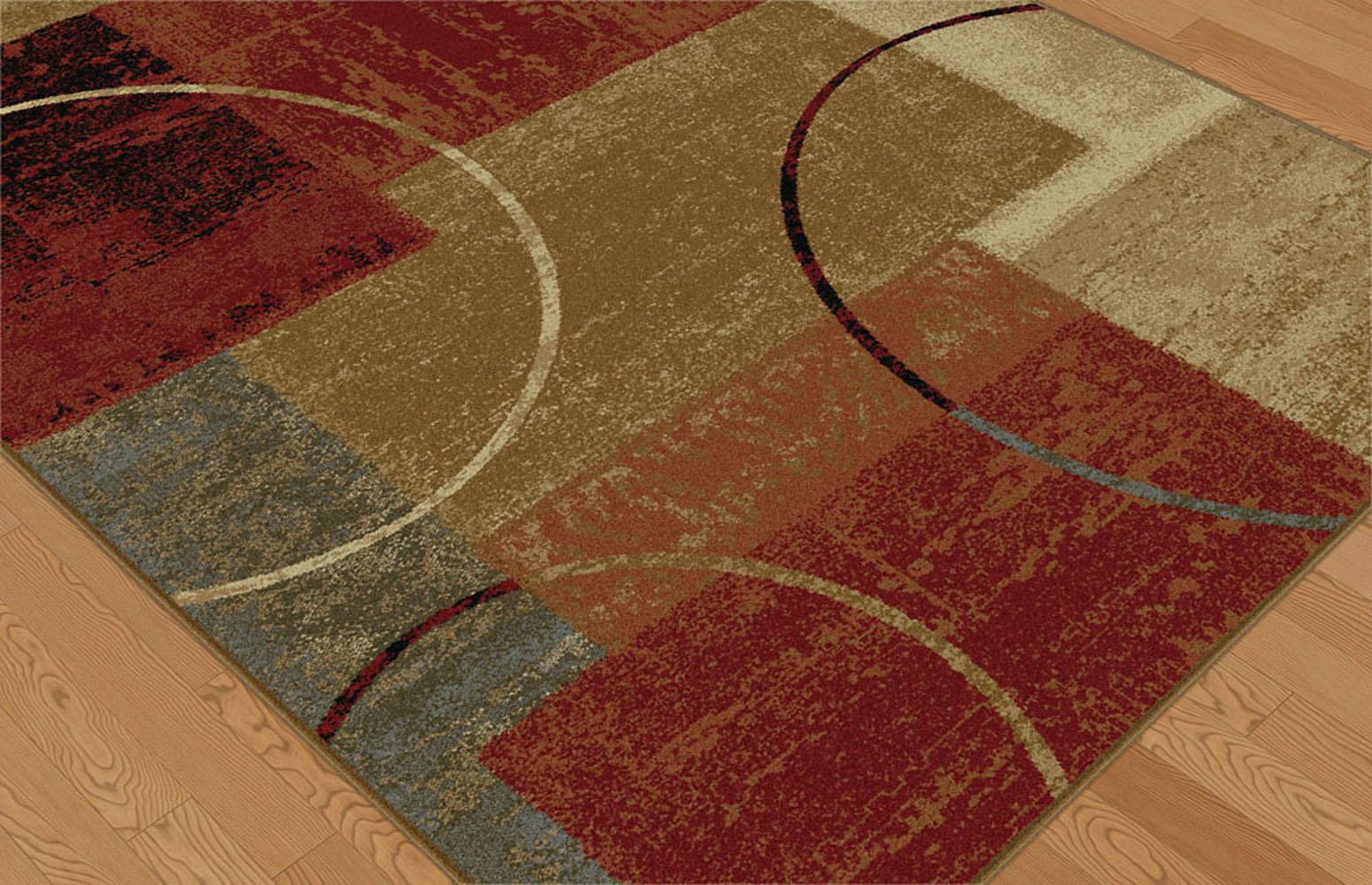 Multi Color Contemporary Abstract Square Geometric Circles