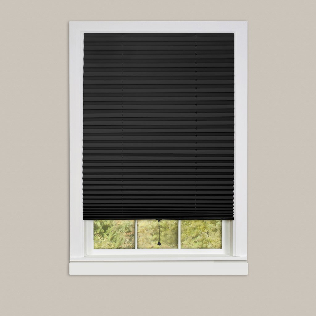 Cordless pleated window shades room darkening vinyl blinds for Shades and window treatments