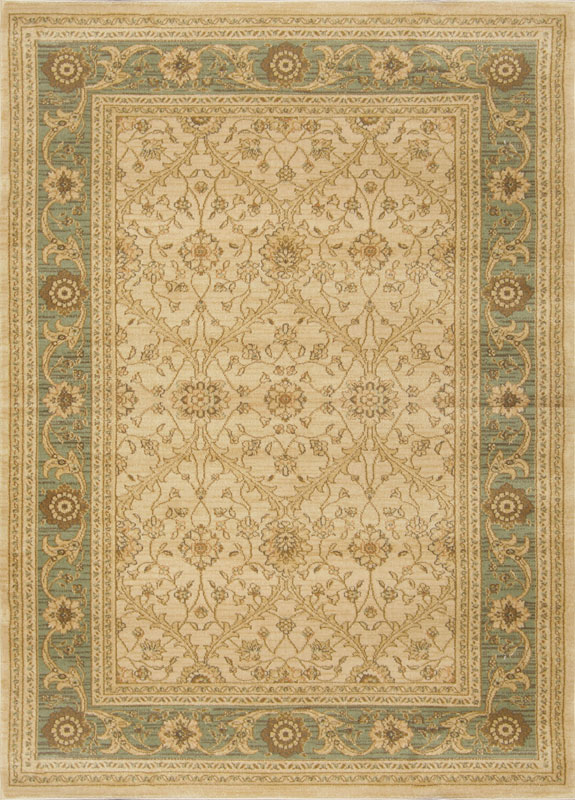 Home Dynamix Antiqua Area Rug 7707-40 Cream/Green Floral Vines at Sears.com