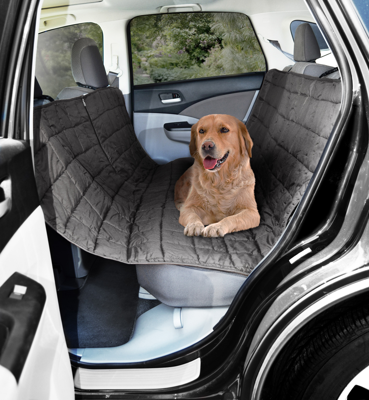 gray car suv rear seat pet dog cat protector cover hammock waterproof travel mat. Black Bedroom Furniture Sets. Home Design Ideas