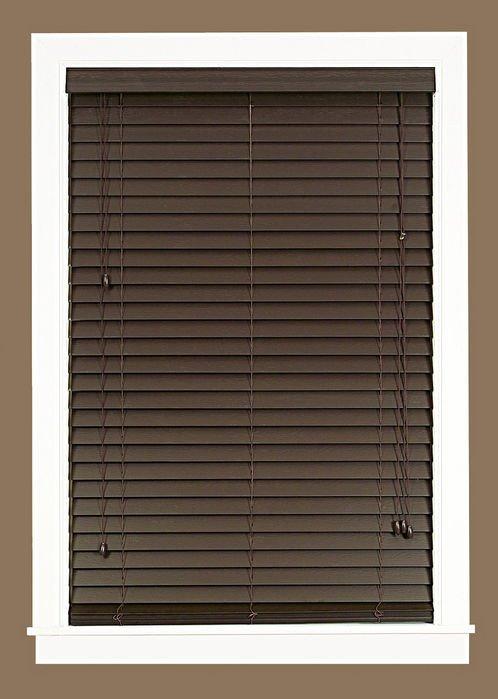 mini window blinds 2 inch faux wood grain plantation blind white maple mahogany ebay. Black Bedroom Furniture Sets. Home Design Ideas