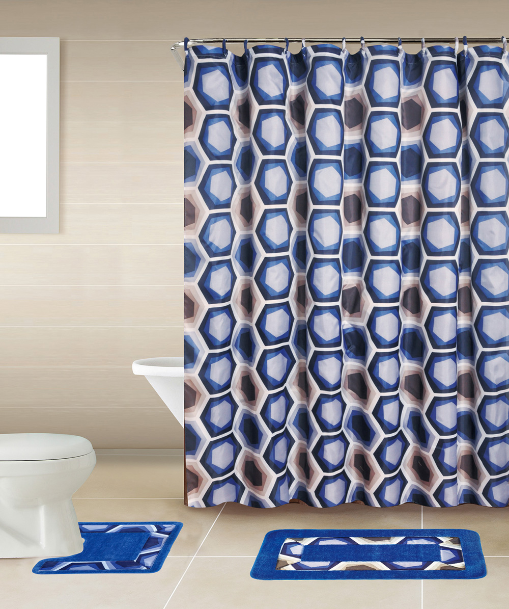 Bathroom shower curtain sets