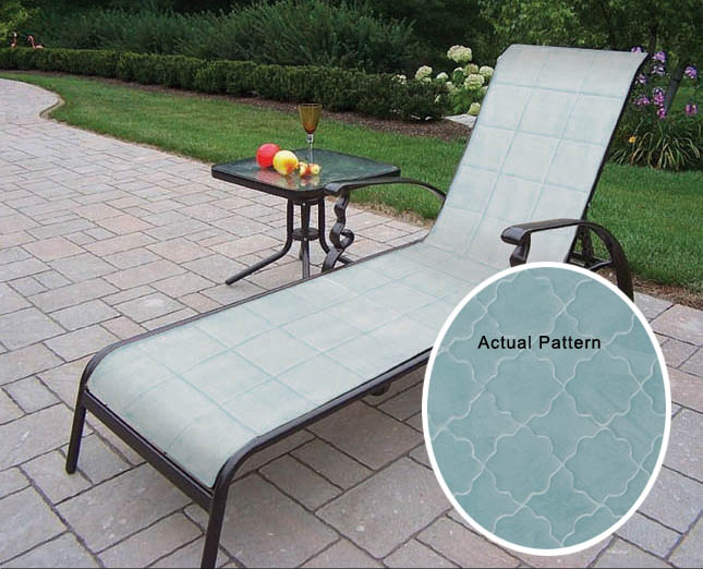 Contemporary Memory Foam Mibcrofiber Patio Chaise Lounge Cushion Actual 23 Q