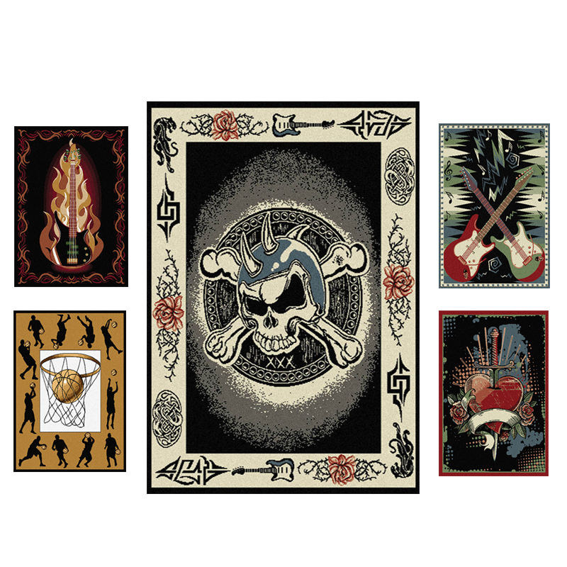 Contemporary Sports Modern Music Novelty Area Rugs Carpet