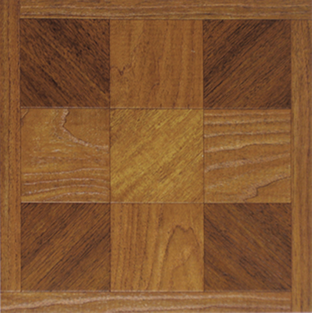 Brown wood vinyl floor tiles 40 pcs self adhesive flooring - Vinyl deck tiles ...