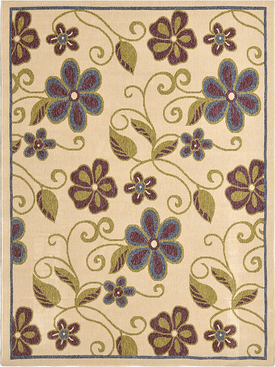 Home Dynamix Environs Outdoor Area Rug 18012A-150 Flowers Leaves at Sears.com