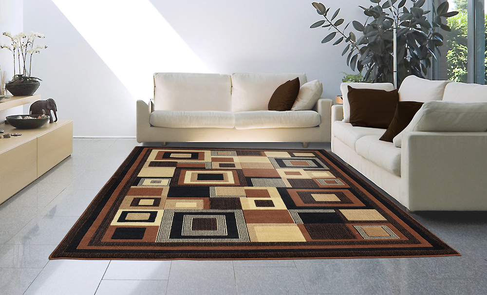 "Modern Casual 8x11 Area Rug Large Contemporary Carpet - Actual 7'10"" x 10'5"""
