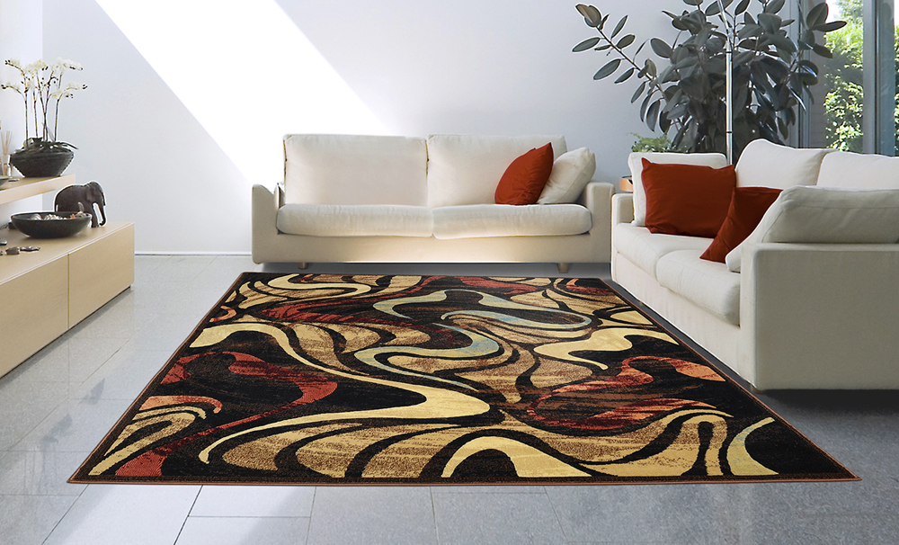 Modern Casual 8x11 Area Rug Large Contemporary Carpet