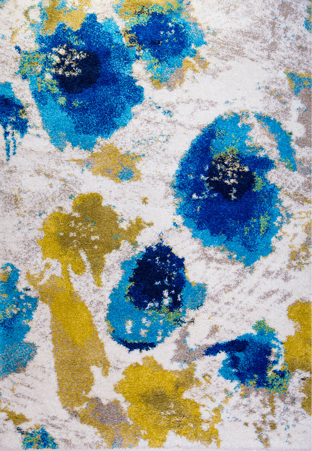 Abstract Multi Color Modern Area Rug Contemporary Bright