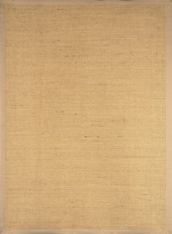 beige sisal seagrass area rug bordered natural fiber casual accent carpet rugs ebay. Black Bedroom Furniture Sets. Home Design Ideas