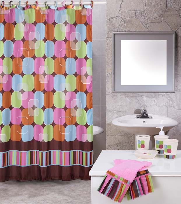 Modern-19-Piece-Bathroom-Accessories-Shower-Contemporary-Curtains-Towel-Set
