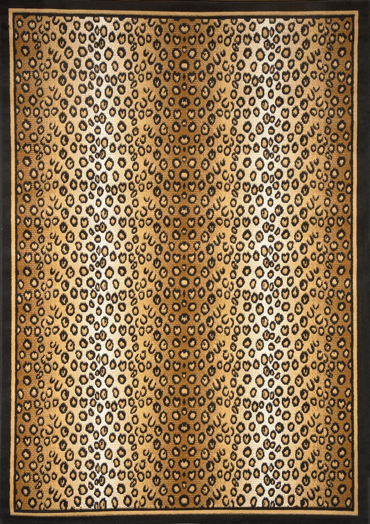 Modern Leopard Animal Print Area Rug 8x11 Zebra
