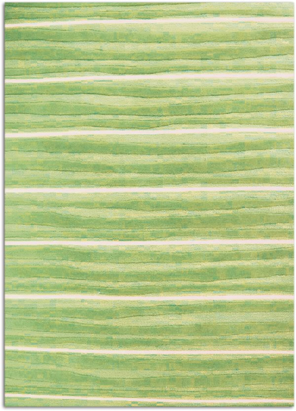 Baby Green White Stripes Modern Pastel 5x7 Area Rug