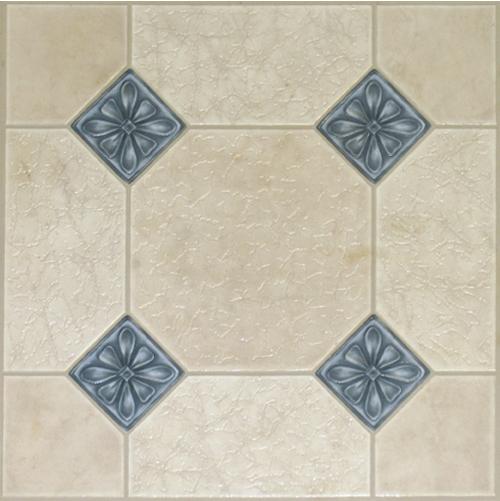 Blue Diamond Self Adhesive 36 Pc Vinyl Floor Tile Cream