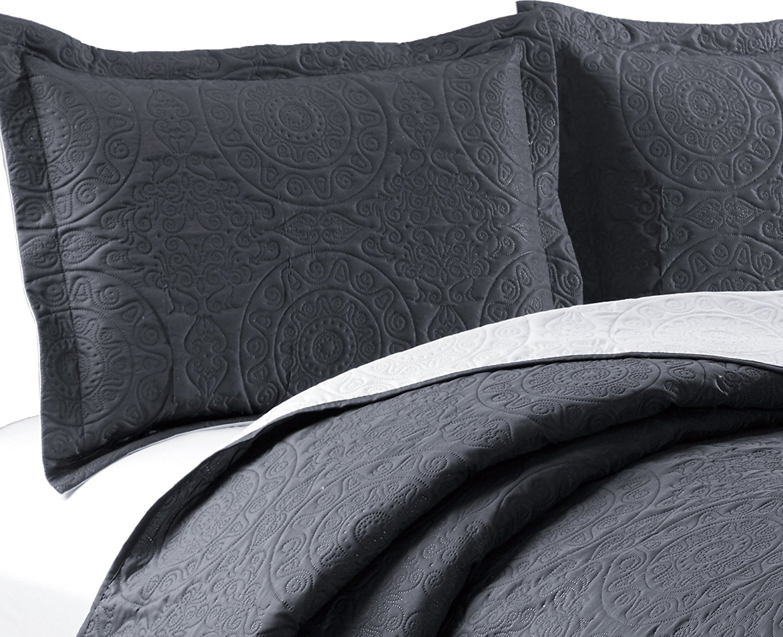 Woven Trends Medallion 3PC Luxury Comforter Quilt Bed Set Reversible Bedspread