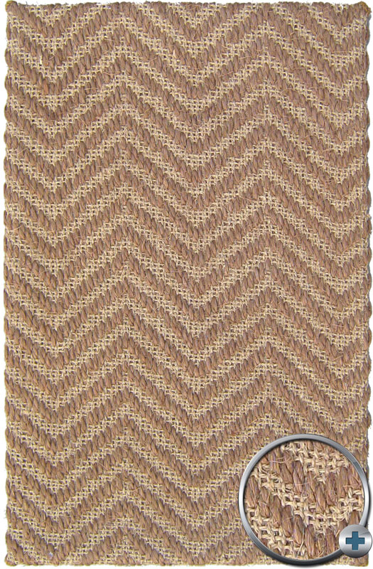 Brown Natural Sisal Outdoor 3x5 Carpet Chevron Modern Area