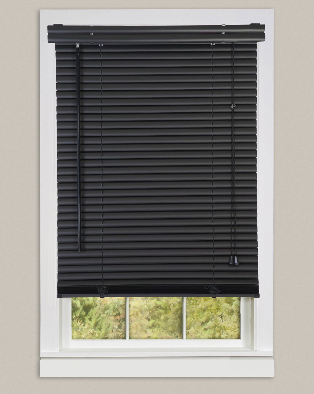 Black Window Blinds : Window blinds mini quot black vinyl blind ebay