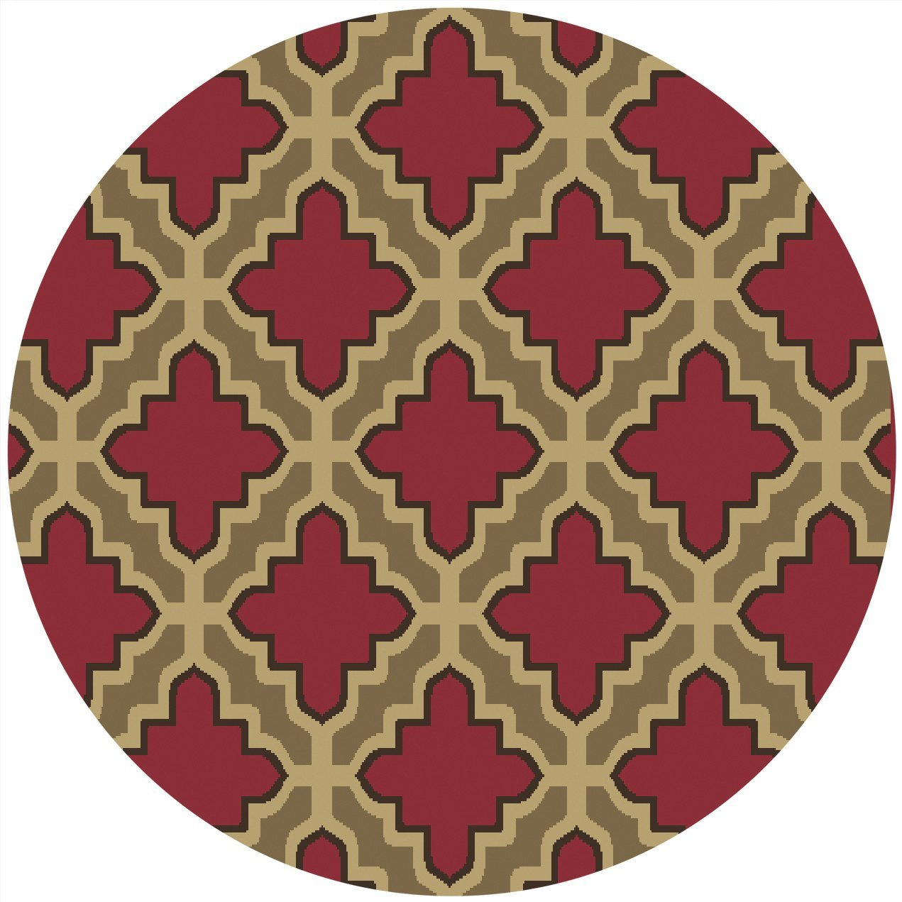 Contemporary moroccan trellis 5x5 round area rug modern for Modern round area rugs