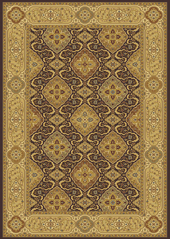 Home Dynamix Regency Area Rug 8855-511 Brown/Ivory Bordered Floral at Sears.com