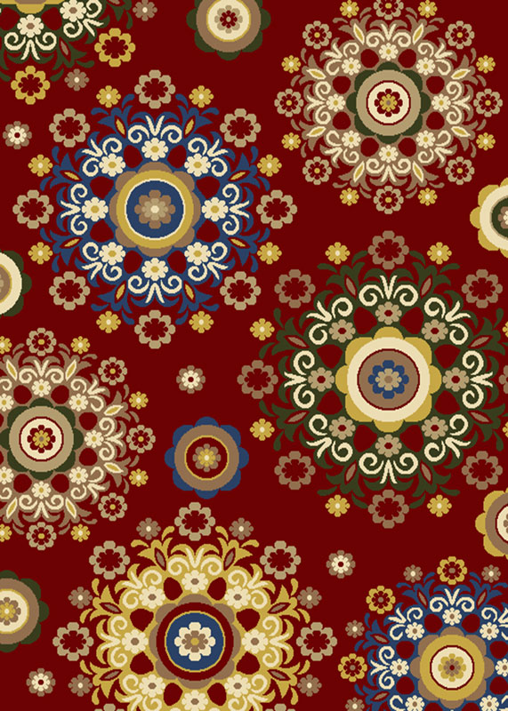 Home Dynamix Royalty Area Rug HD4037-200 Red Flowers Medallions at Sears.com