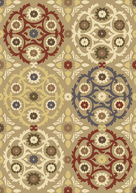 Home Dynamix Royalty Area Rug HD4107-150 Beige Circles Scrolls at Sears.com