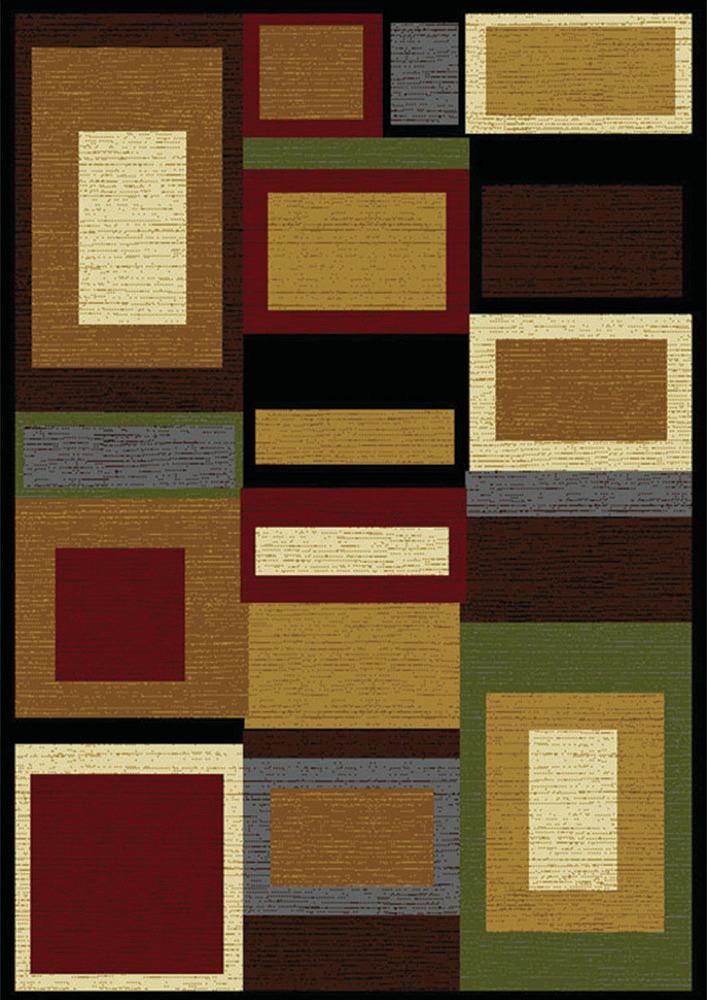Modern geometric multi area rug 5x8 contemporary carpet for Geometric area rugs contemporary