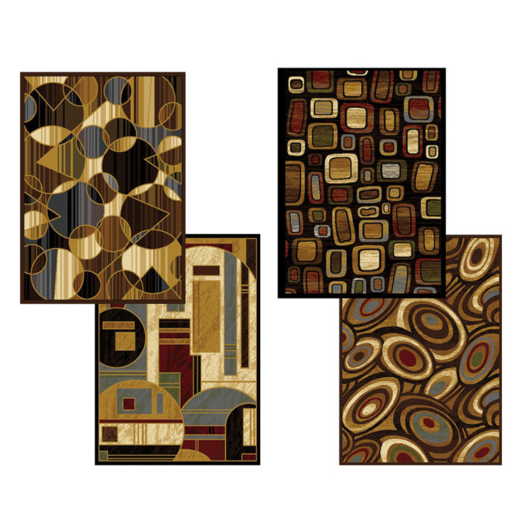 Modern-Abstract-Geometric-Shapes-6x8-Black-Area-Rug-Actual-5-2-x-7-2
