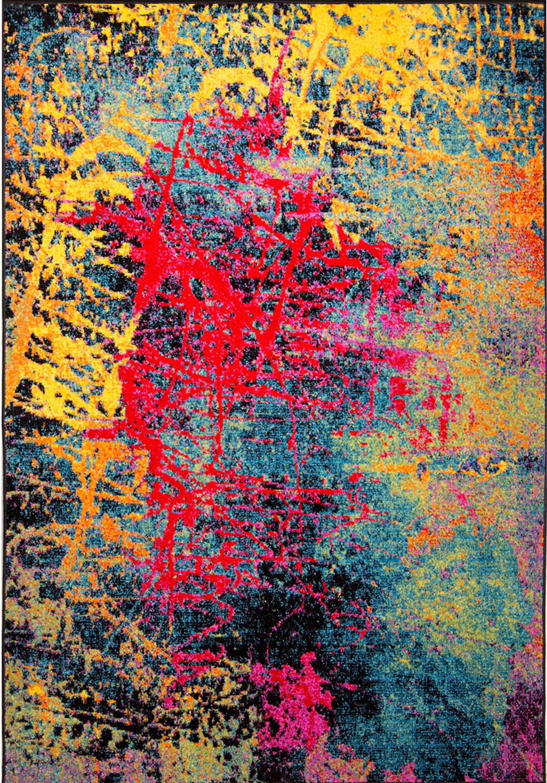^ Modern ug ontemporary rea ugs Multi Geometric Swirls Lines ...