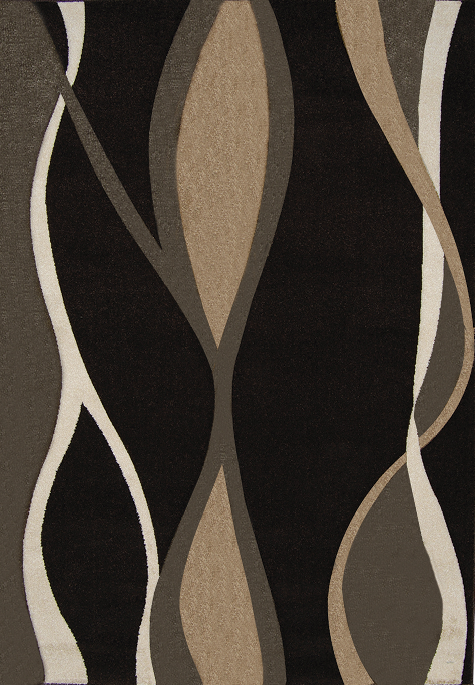 Home Dynamix Sumatra Area Rug 8559D-514 Dark Brown Stripes Lines at Sears.com
